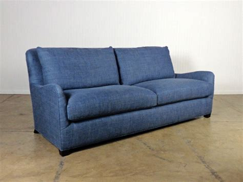 brewer midnight blue upholstered sofa mecox gardens