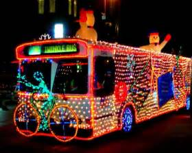 awesome christmas lights bus daily picks and flicks