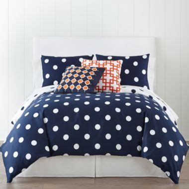 jcpenney home 300tc big dot duvet cover accessories