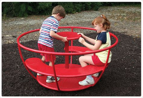 backyard merry go round kids modern
