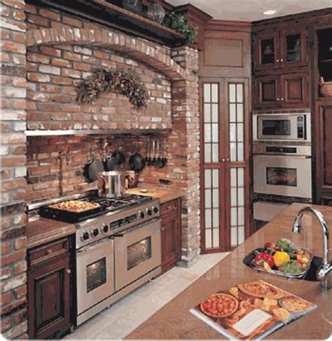 brick kitchen ideas brick backsplash kitchen quotes