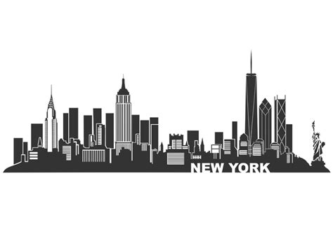 cartoon tattoo new york wandtattoo new york skyline silhouette ny tattoo and city