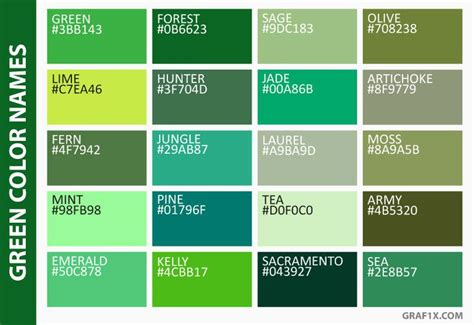 best 20 green color names ideas on color names green name and green colors