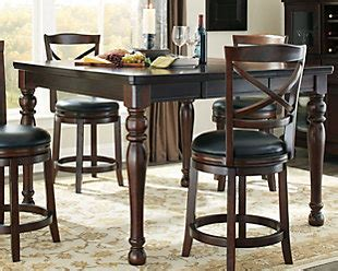 slumberland counter height table porter dining room table furniture homestore
