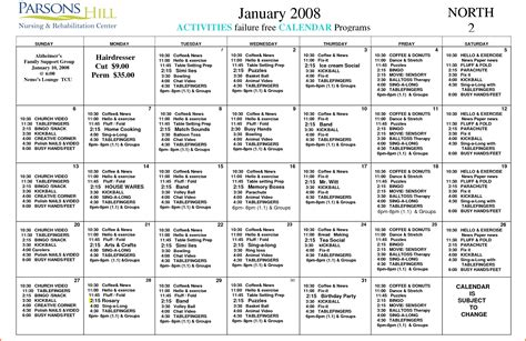 activities calendar template free microsoft word calendar templates 2015 calendar