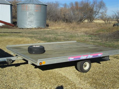 Sled Bed Trailer by Newmans Sled Bed Alum 2 Place Skidoo Trailer Tilt Deck