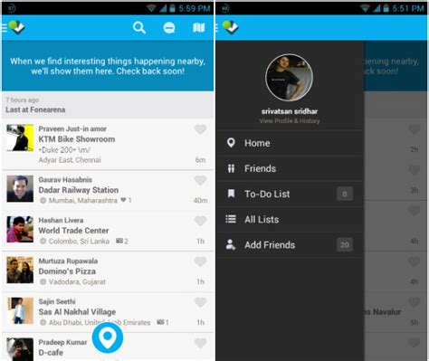 foursquare for android foursquare for android updated with redesigned ui and faster performance