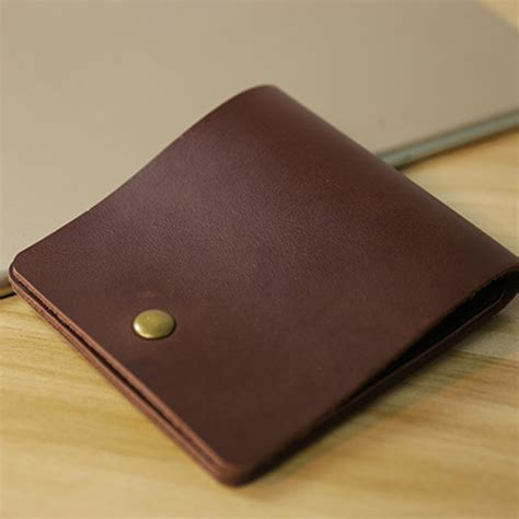 Genuine Leather Simple Wallet vintage genuine leather simple mini wallet card holder