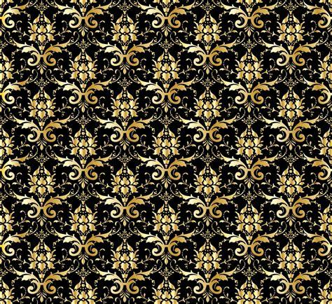 wallpaper pattern gold black damask wallpaper background gold free stock photo public