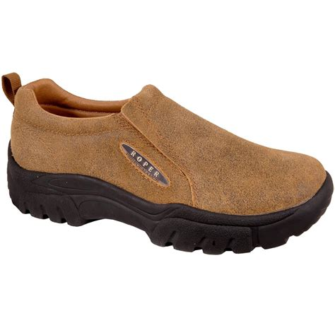 s roper 174 suede leather slip on shoes 112505