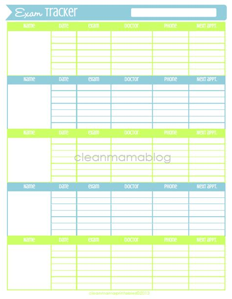 appointment tracker template free printable tracker clean