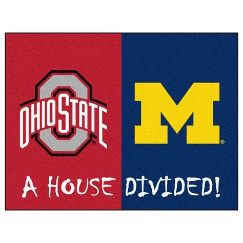 house divided ohio state michigan house divided welcome mat