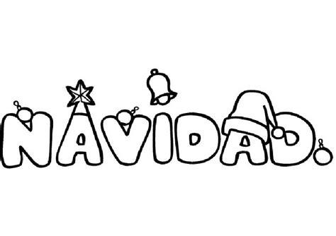 imagenes de navidad para dibujar imagen de la palabra navidad para dibujar y colorear