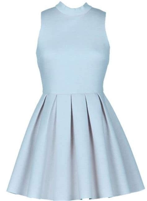Rickety Rack by Coated Dress Baby Blue Flared A Line Dresses Ricketyrack
