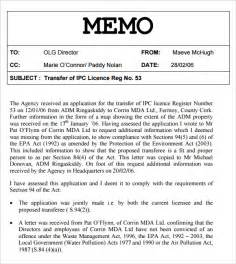 Corporate Memo Template by Sle Memo Template 7 Free Documents