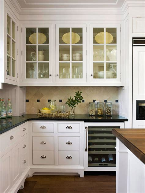 White Kitchen Cabinets With Glass 2012 White Kitchen Cabinets Decorating Design Ideas Home Interiors