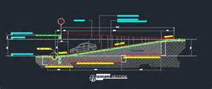 Single Car Garage Plans ramp at basement details cad files dwg files plans and