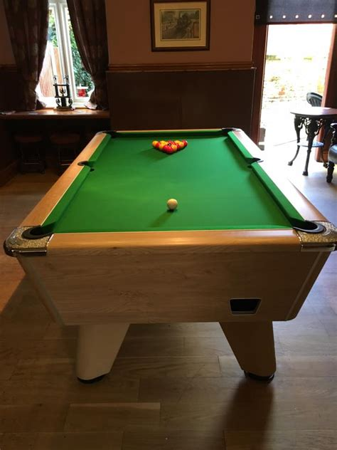 ex rental pool table sold replacing with new stock on