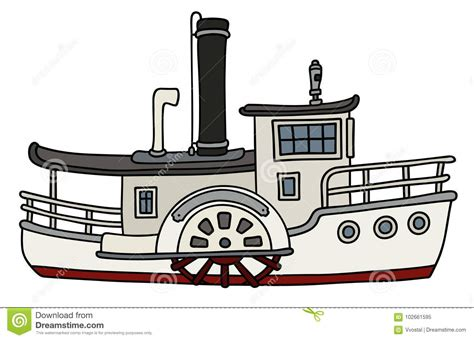steamboat cartoon steamboat cartoons illustrations vector stock images