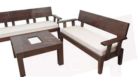 sofa set made of wood stylish looking wooden sofa set for your living room