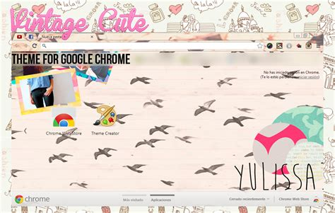 google chrome themes cute pink theme google chrome cute vintage by yulissa346 on deviantart
