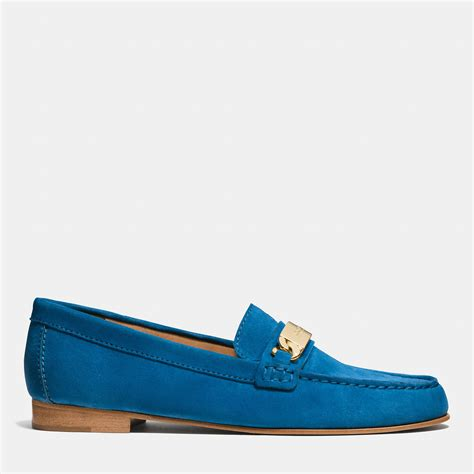 coach loafer lyst coach kimmie loafer in blue