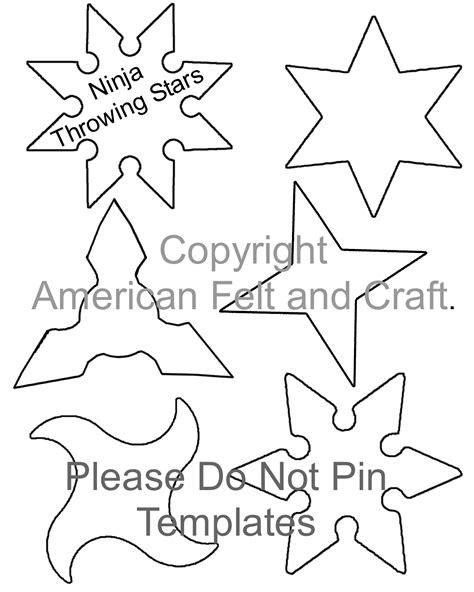printable ninja star template hai ya diy felt ninja pouches and throwing stars