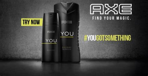 Parfum Axe You free sle of axe daily fragrance spray money saving quest