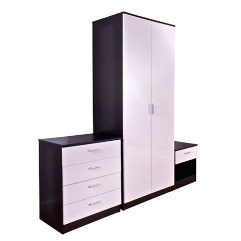 black and white bedroom set ottawa 3 black and white high gloss bedroom set 17200