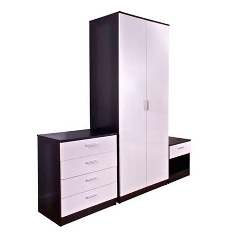 Black And White Gloss Bedroom Furniture Ottawa 3 Black And White High Gloss Bedroom Set 17200