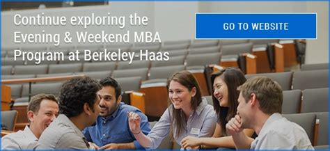 Evening And Weekend Mba Berkeley Haas Schedule by Evening Weekend Mba Class Profile Infographic Meet The