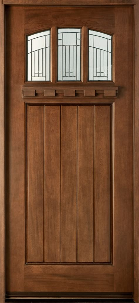 Craftsman Custom Front Entry Doors Custom Wood Doors Custom Wood Exterior Doors
