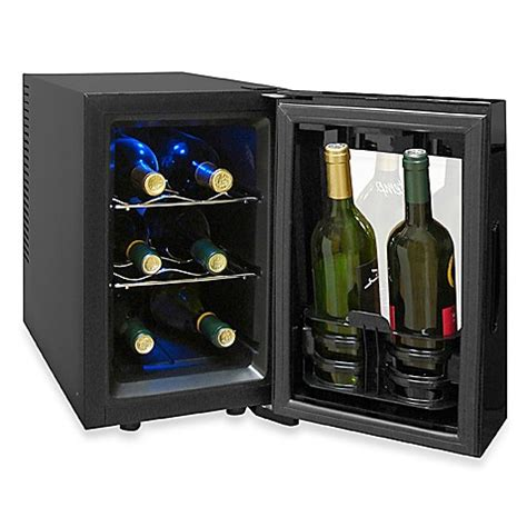 bed bath and beyond cooler vinotemp 174 8 bottle thermoelectric wine cooler model vt