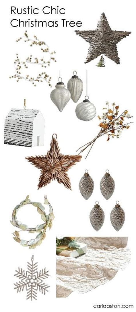 10 must have rustic chic christmas tree decorations designed