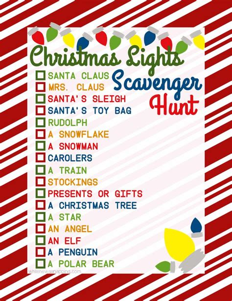 printable christmas light scavenger hunt christmas lights scavenger hunt while he was napping