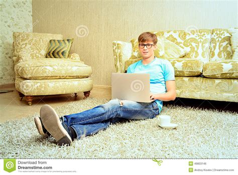 the comfort guy free time stock photo image 49803146