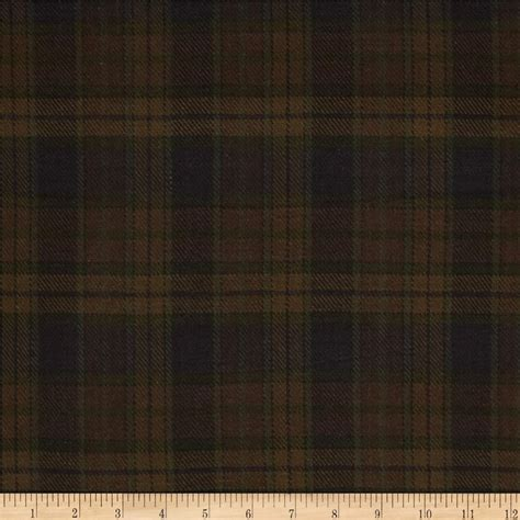 Flannel Upholstery Fabric Cozy Yarn Dye Flannel Large Plaid Brown Discount