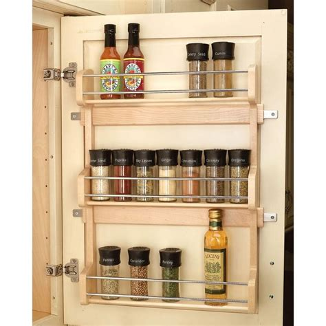 The Door Pantry Rack Home Depot by Rev A Shelf Large Door Mount Spice Rack 4sr 21