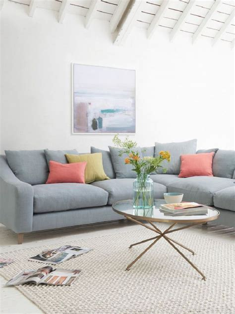 cosy light blue living room wonderful cosy living room ideas plaid grey chaise lounge