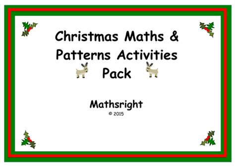 christmas pattern maths mathsright s shop teaching resources tes