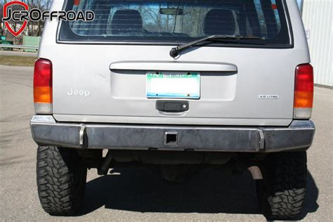 homemade jeep rear bumper jcr offroad diy rear bumper for jeep cherokee xj