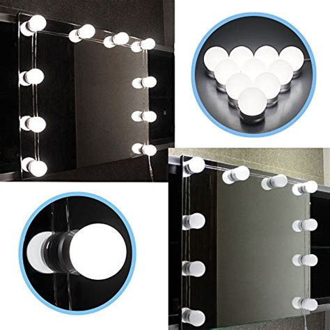 dimmable led vanity lights chende hollywood style led vanity mirror lights kit with