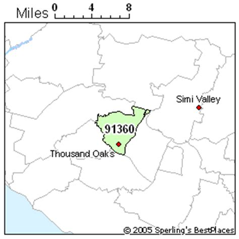 thousand oaks zip code map best place to live in thousand oaks zip 91360 california