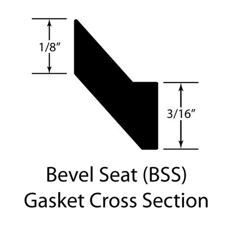 bss section medium weight ptfe bevel seat gasket sanitary seals blue