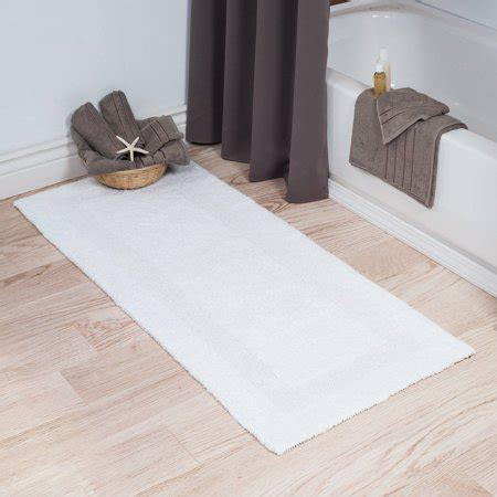 100 Cotton Bath Rugs - somerset home 100 cotton reversible bath rug white