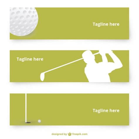 golf vector banners vector free download