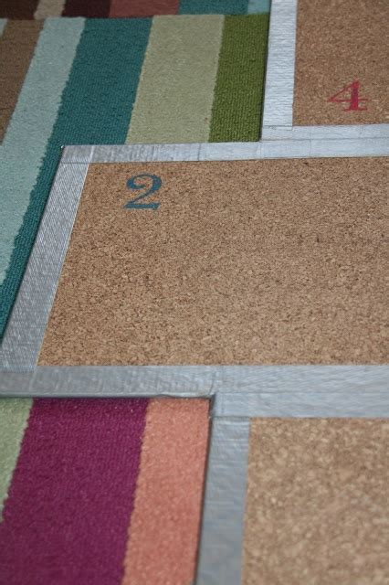 diy cork board hopscotch mat for the kiddies room