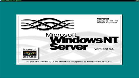 microsoft windows nt  server youtube