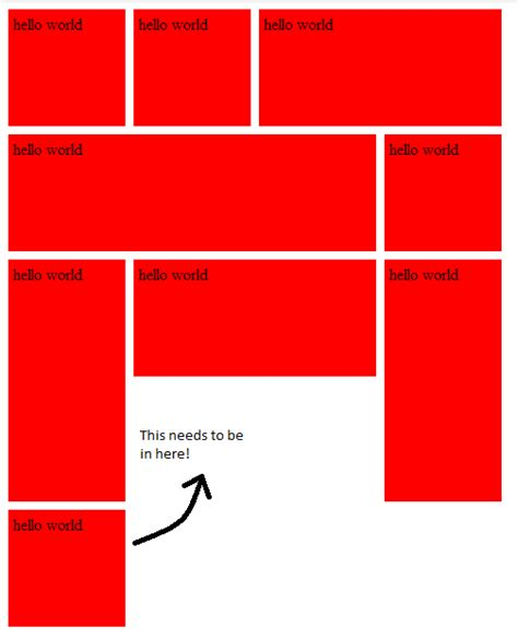 border layout jsfiddle html css patio layout stack overflow