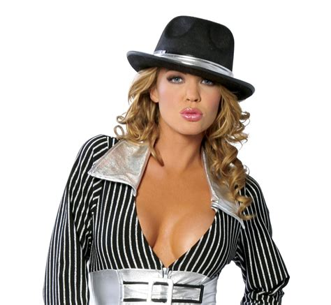 womens gangsta are hair do adult women gangster hat with silver trim 14 99 the
